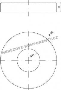 Krytka velkého horního kotvení - sloupek zábradlí pr. 42,4 mm