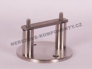 Boční kotvení sloupku pr. 42,4 mm - 2x šroub + kulatá platle