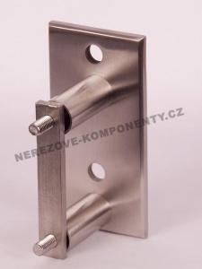 Boční kotvení sloupku 40x40 mm - 2 x šroub + hranatá platle