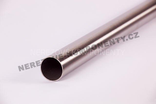 Nerezová trubka sloupku 42,4 mm - boční kotvení - 115,4 cm