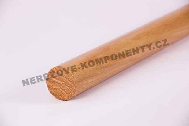 Kulaté dubové madlo zábradlí 45 mm - 1 m