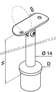 Držák madla - sloupek 42,4 mm (stavitelný KM)