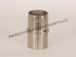 Spojka nerezového madla 42,4 mm - rovná