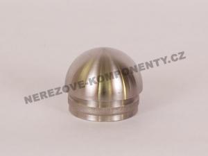 Koncovka nerezového madla 42,4 mm - půlkulatá