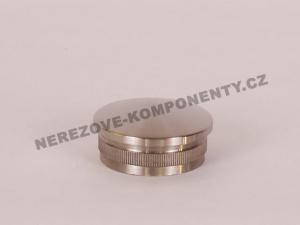 Koncovka nerezového madla 42,4 mm - klenutá
