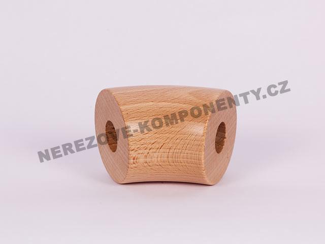 Spojka dřevěného madla 45 mm - 45 st. - buk