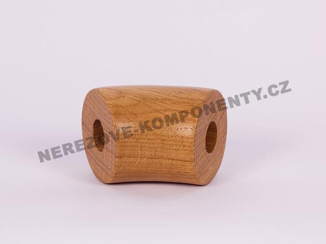 Spojka dřevěného madla 45 mm 45 st. - dub