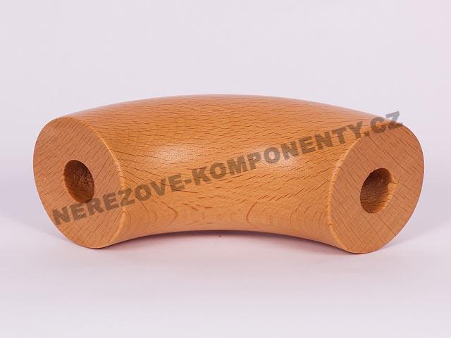 Spojka dřevěného madla 45 mm - 90 st. - buk