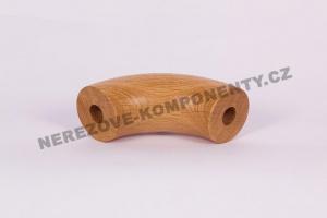 Spojka dřevěného madla 45 mm 90 st. - dub