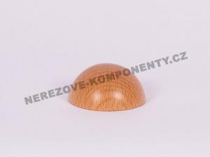 Koncovka dřevěného madla 45 mm půlkulatá - buk