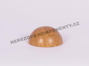 Koncovka dřevěného madla 45 mm půlkulatá - dub