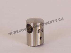 Držák nerezového prutu 12 mm - průběžná spojka