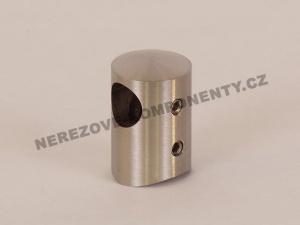 Držák nerezového prutu 12 mm - krajní levý