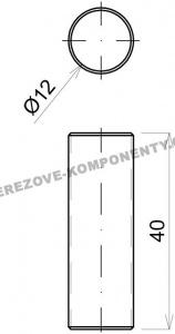 Spojka nerezového prutu 12 mm - průběžná