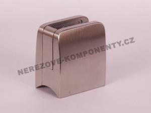 Hranatý držák skla zábradlí - model 26 KS