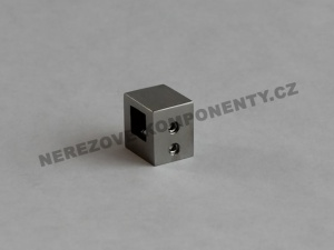 Držák nerezového prutu 10x10 mm - průběžný
