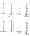 Nerezové zábradlí - sloupek 42,4 mm - horní - prut 12 mm