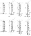 Nerezové zábradlí - sloupek 42,4 mm - horní - lanko 5 mm