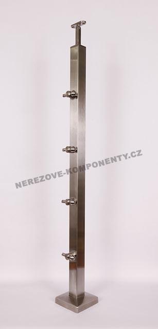 Nerezové zábradlí - sloupek 40x40 mm - horní - lanko 5 mm