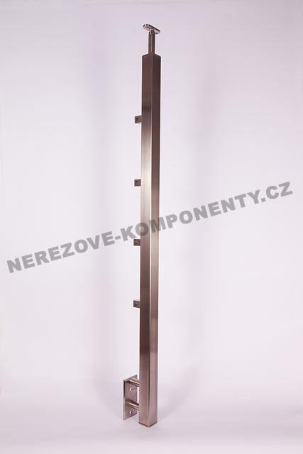 Nerezové zábradlí - sloupek 40x40 mm - boční - prut 10x10 mm