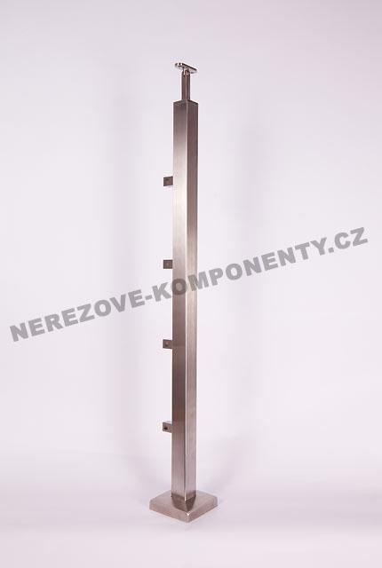 Nerezové zábradlí - sloupek 40x40 mm - horní - prut 10x10 mm