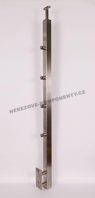 Nerezové zábradlí - sloupek 40x40 mm - boční - prut 12 mm