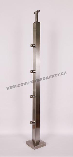 Nerezové zábradlí - sloupek 40x40 mm - horní - prut 12 mm