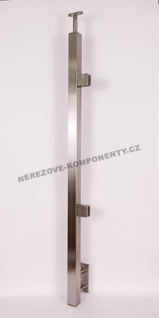 Nerezové zábradlí - sloupek 40x40 mm - boční - sklo
