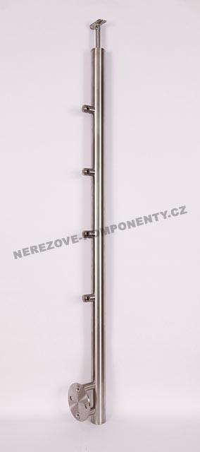 Nerezové zábradlí - sloupek 42,4 mm - boční - prut 12 mm