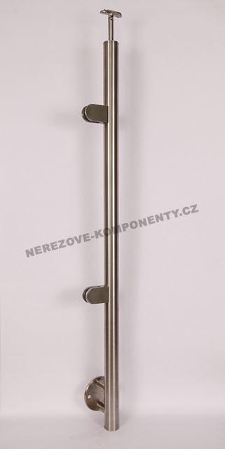 Nerezové zábradlí - sloupek 42,4 mm - boční - sklo